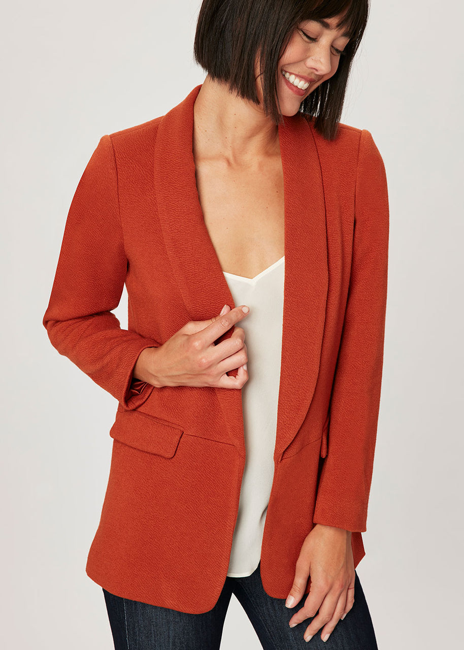 Solid basic blazer Burnt Orange