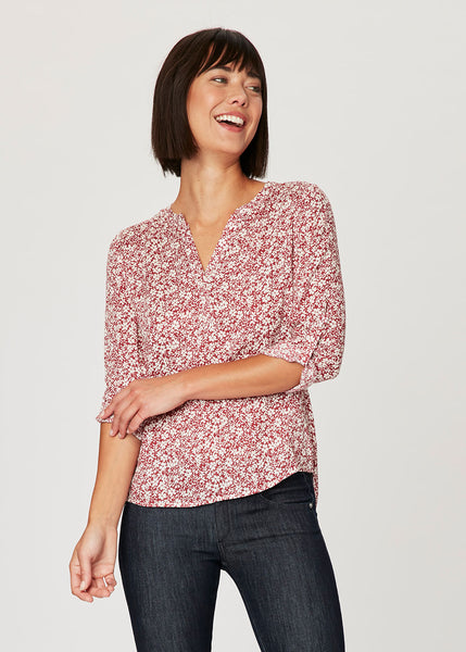 The Marci Split Neck Blouse