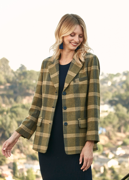 Enola Holmes Plaid Jacket Yellow Plaid