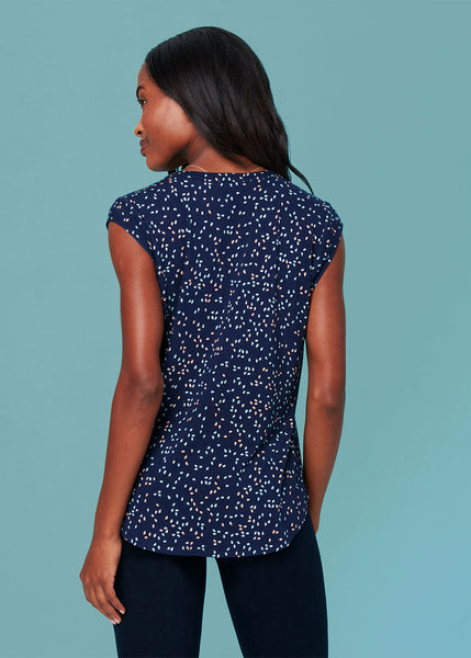 Lightweight floral top (knit) Dot Print
