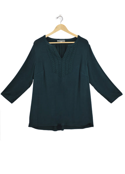 Ramsey Knit Top+ Forest Green