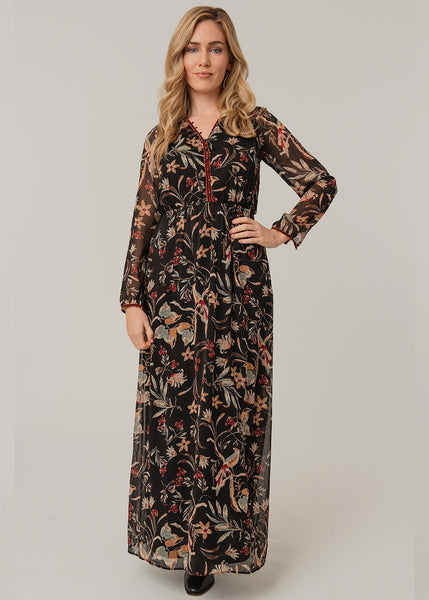 Retro black maxi dress Black