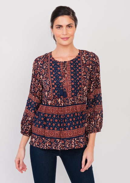 Multiprint Boho Top