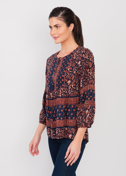 Multiprint Boho Top Multiprint