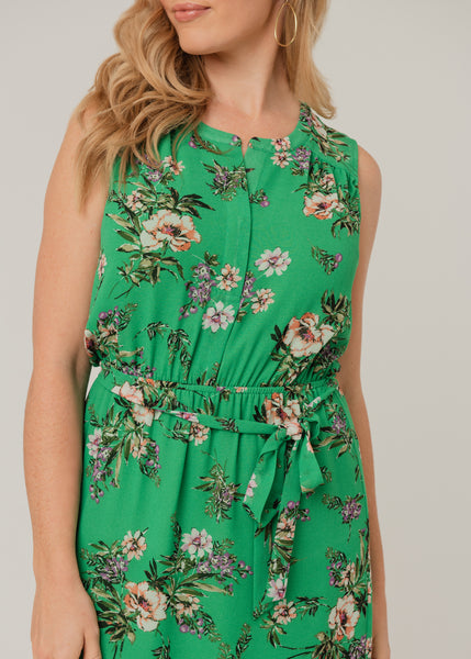 Sleeveless Jazz-Era dress (Green) Green