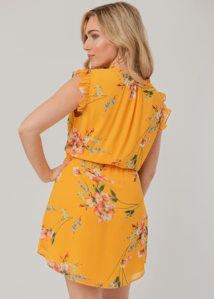 Yellow floral sundress Yellow