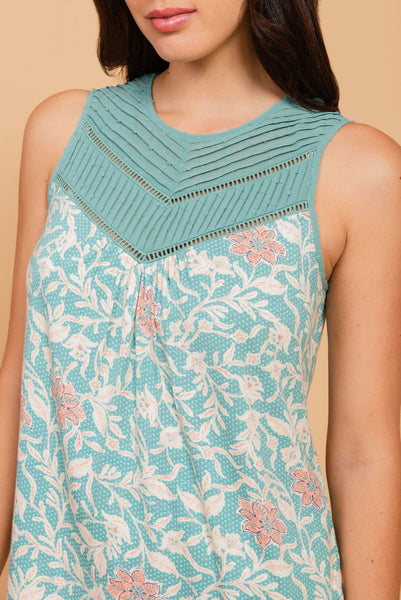Light blue sleeveless top Teal