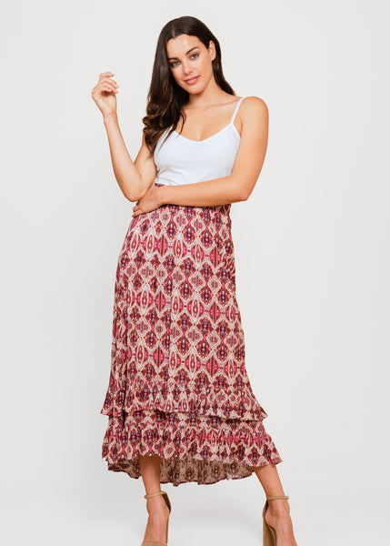 Tribal print boho skirt