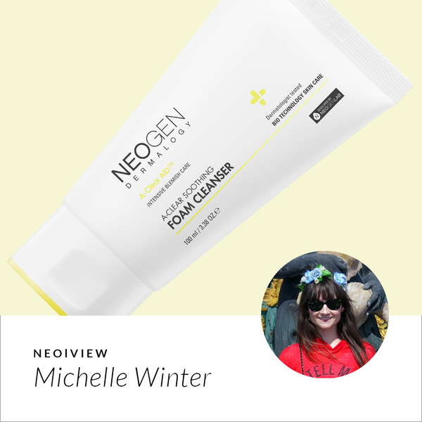 NEO I VIEW <br> GET BLEMISH-FREE SKIN WITH A-CLEAR SOOTHING FOAM CLEANSER - NEOGEN GLOBAL