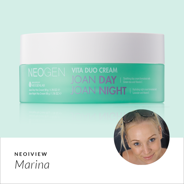 NEO I VIEW<br>Vita Duo Cream Joan Day Joan Night Review by Marina - NEOGEN GLOBAL