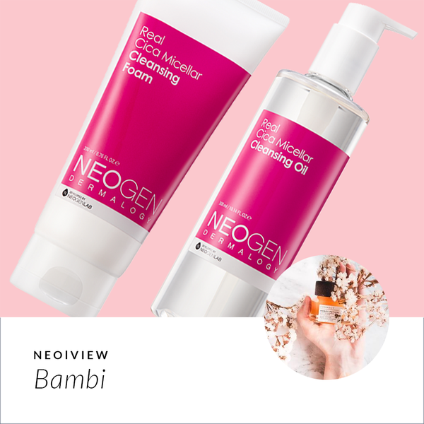 NEO I VIEW<br>Real Cica Micellar Oil & Foam Review by Bambi - NEOGEN GLOBAL