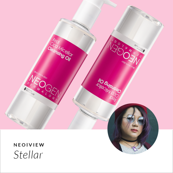 NEO I VIEW<br>Real Cica Micellar Cleansing Oil Review by Stellar - NEOGEN GLOBAL