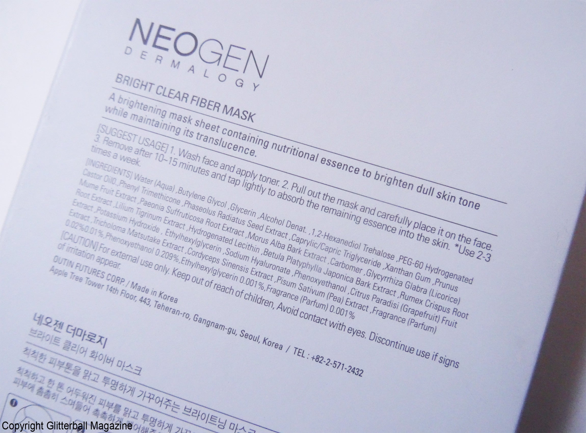 Neogen Bright Clear Fiber Sheet Masks_3