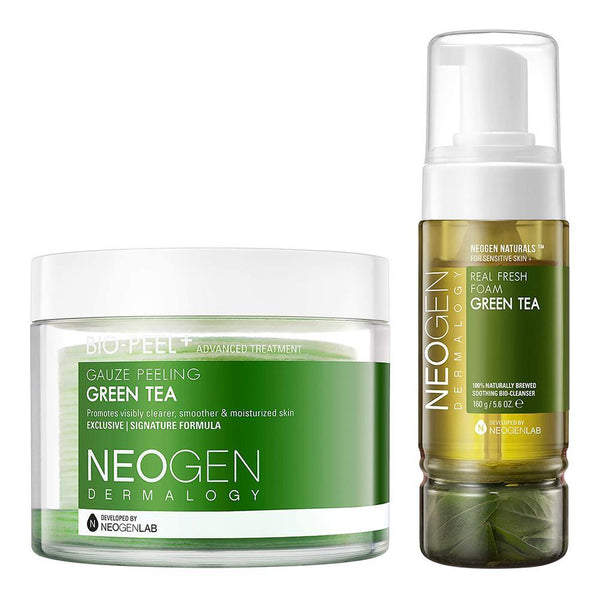 [GREENER DUO] NEOGEN DERMALOGY BIO-PEEL GAUZE PEELING GREEN TEA + REAL FRESH FOAM GREEN TEA