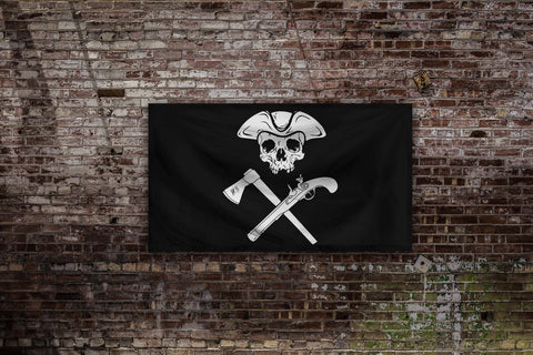 Jolly Roger Mini Black Flag