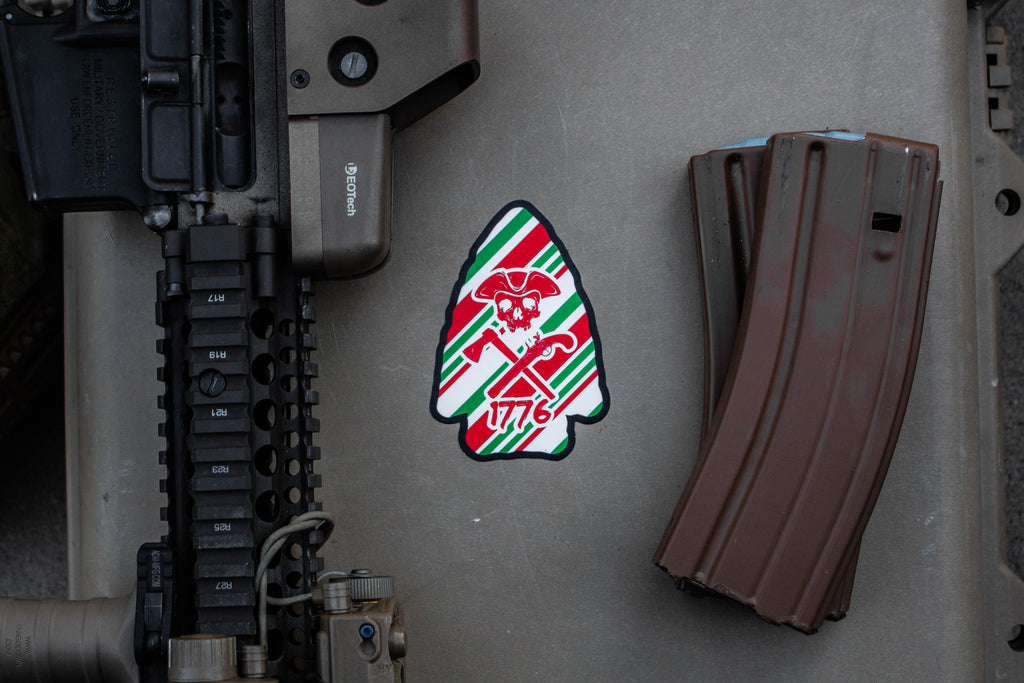 Christmas Arrowhead Sticker