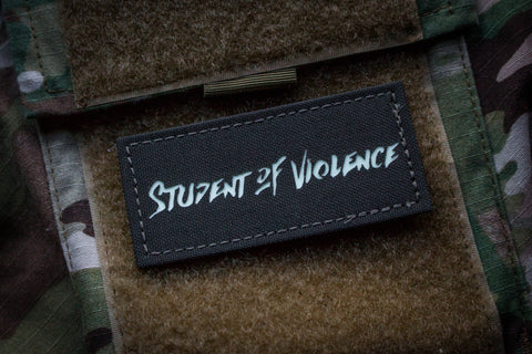 Student of Violence Morale Patch Grey