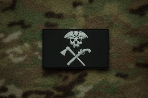 Jolly Roger Black Large Morale Patch