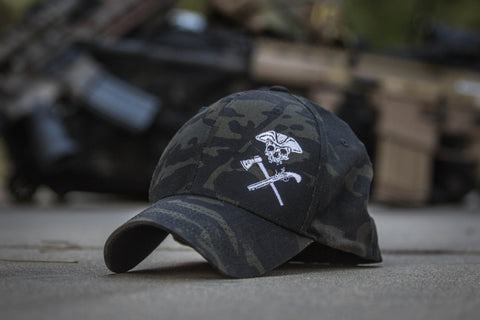 Jolly Roger Multicam Black FlexFit Hat