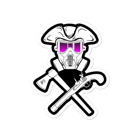 Jolly Roger Gas Mask Sticker