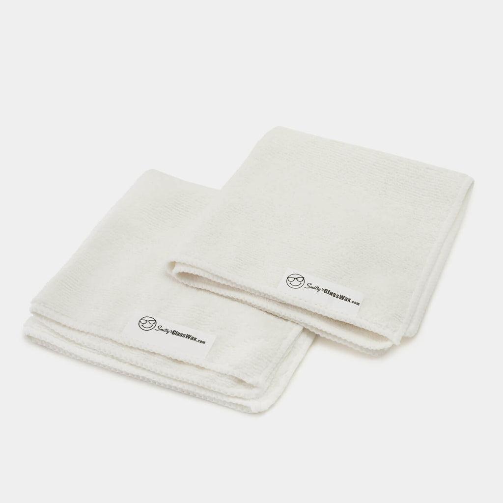2 Large WHITE Microfiber Towels