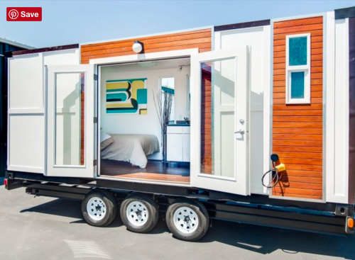 Man Converts Shipping Container into Tiny Home on Wheels Read
