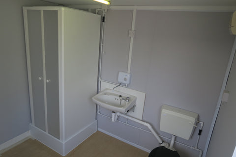 32x10 ft Office/Canteen + Toilet + Shower