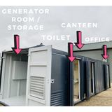 No 326 | 32 x 9ft |  Canteen| Office | Toilet| Drying Room | Storage