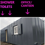 No 90 | Shower Block | 32x10 Ft | Anti Vandal | 3 Showers + Toilet + Urinals