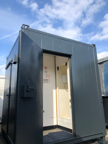 8x8 ft Shower /Toilet Block. Anti Vandal. 2 External Doors.