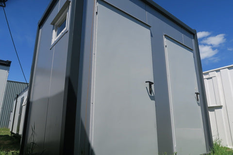 10x8 ft Portable Double Toilet Block. Male Female WC.