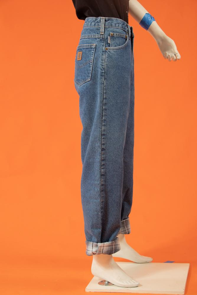 Vintage - Flannel Lined Mom Jeans