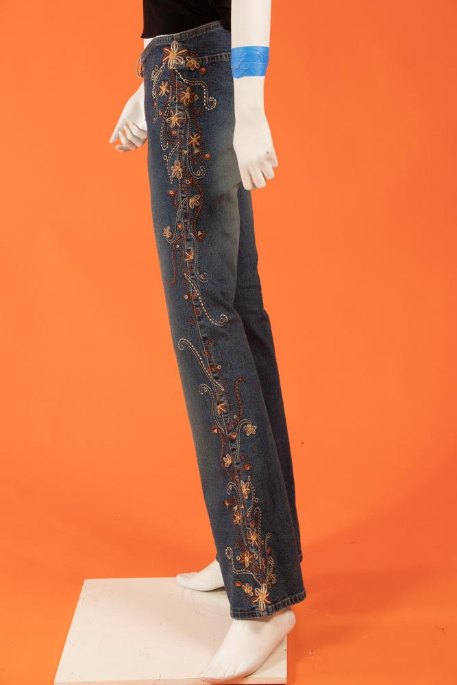 Vintage - Embroidered Detail Pants