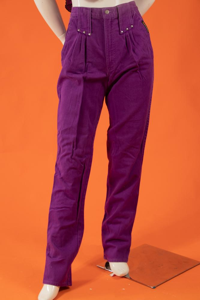 Vintage - Highwaisted Purple Jeans