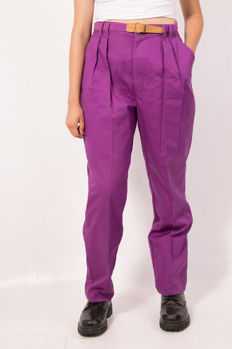 Vintage - Purple pleated Pants