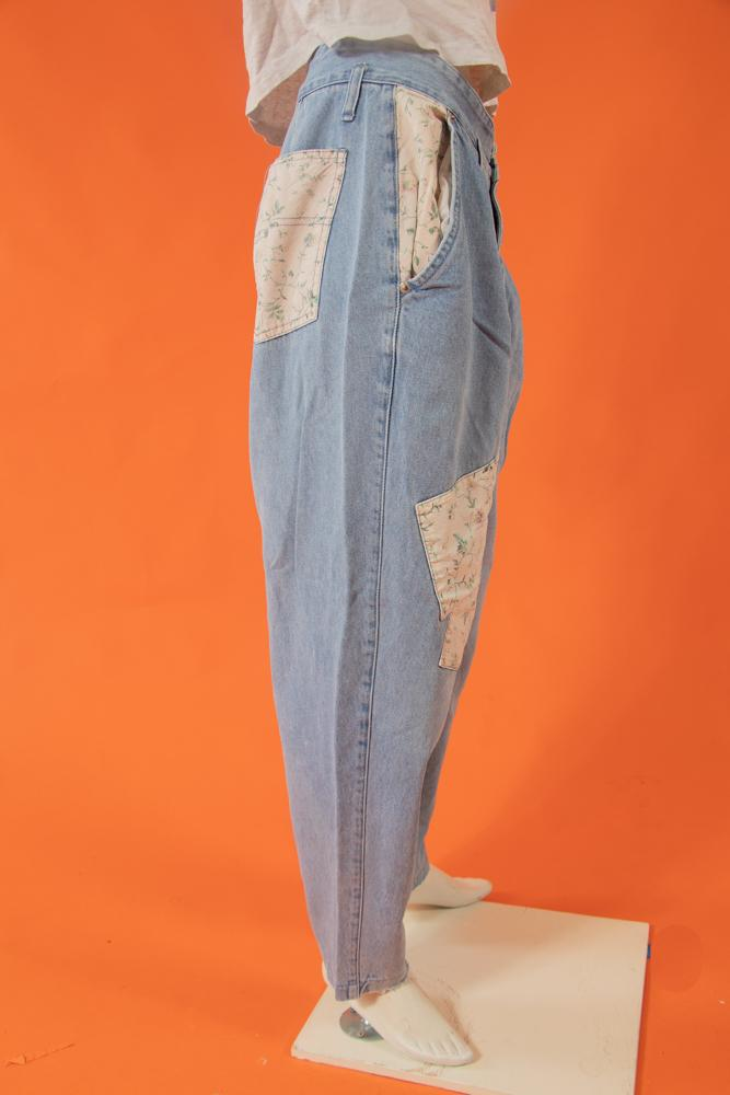 Vintage - Floral Stephano Mom Jeans