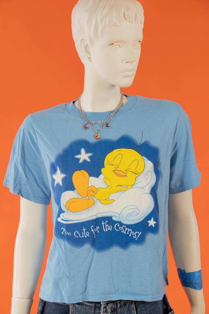 90s Sleepy Tweety Crop