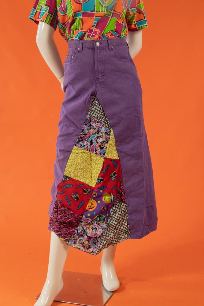 Vintage - Crazy Patchwork Skirt