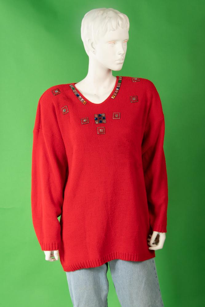 Vintage - Jeweled Knit Sweater