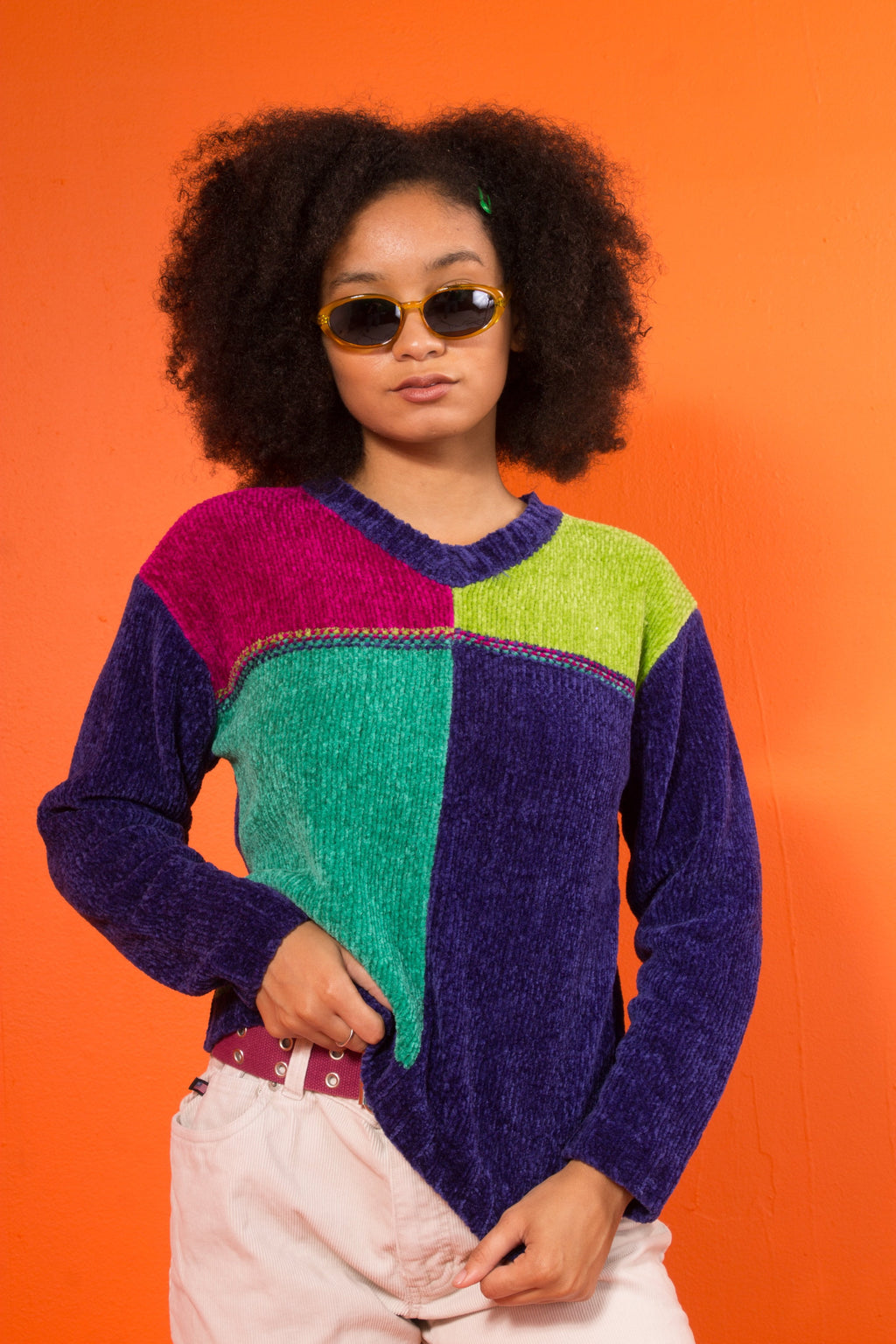 Vintage - colorblock sweater