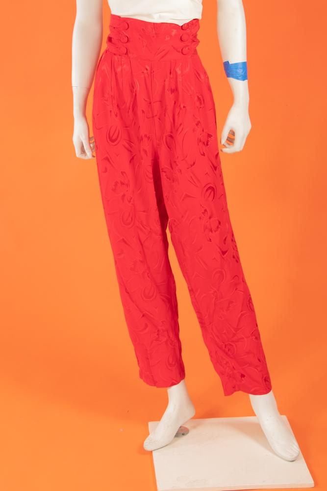 Vintage - Red High waisted Pants
