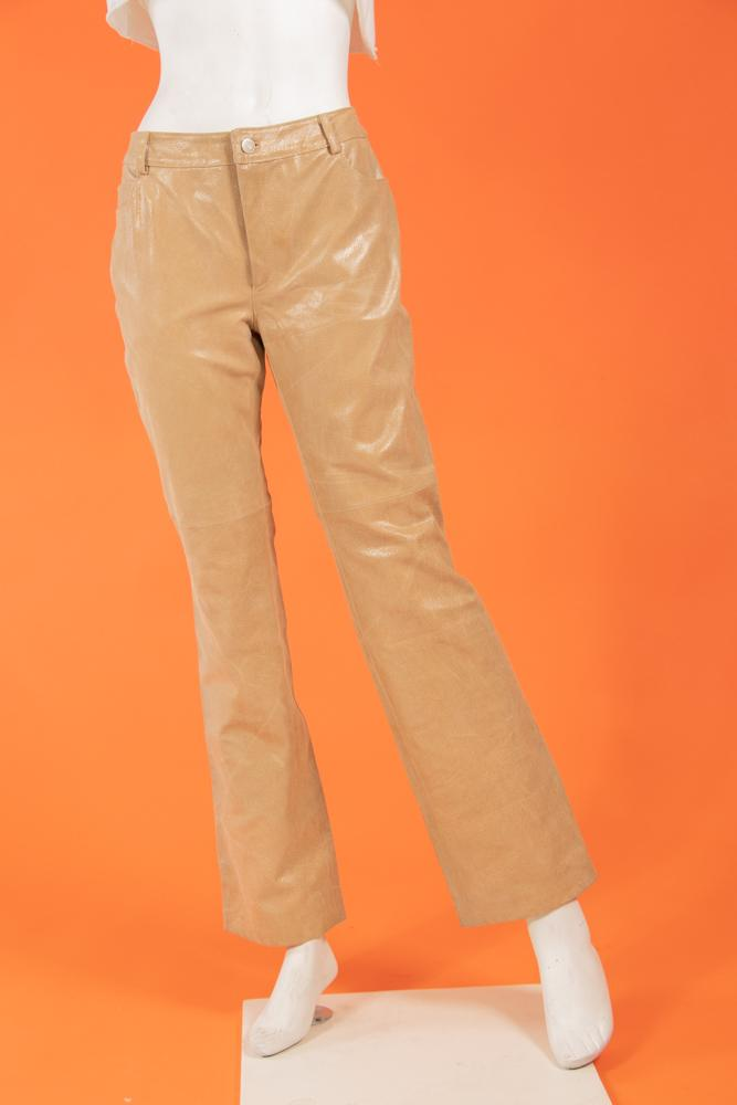 Vintage - Beige Leather Pants