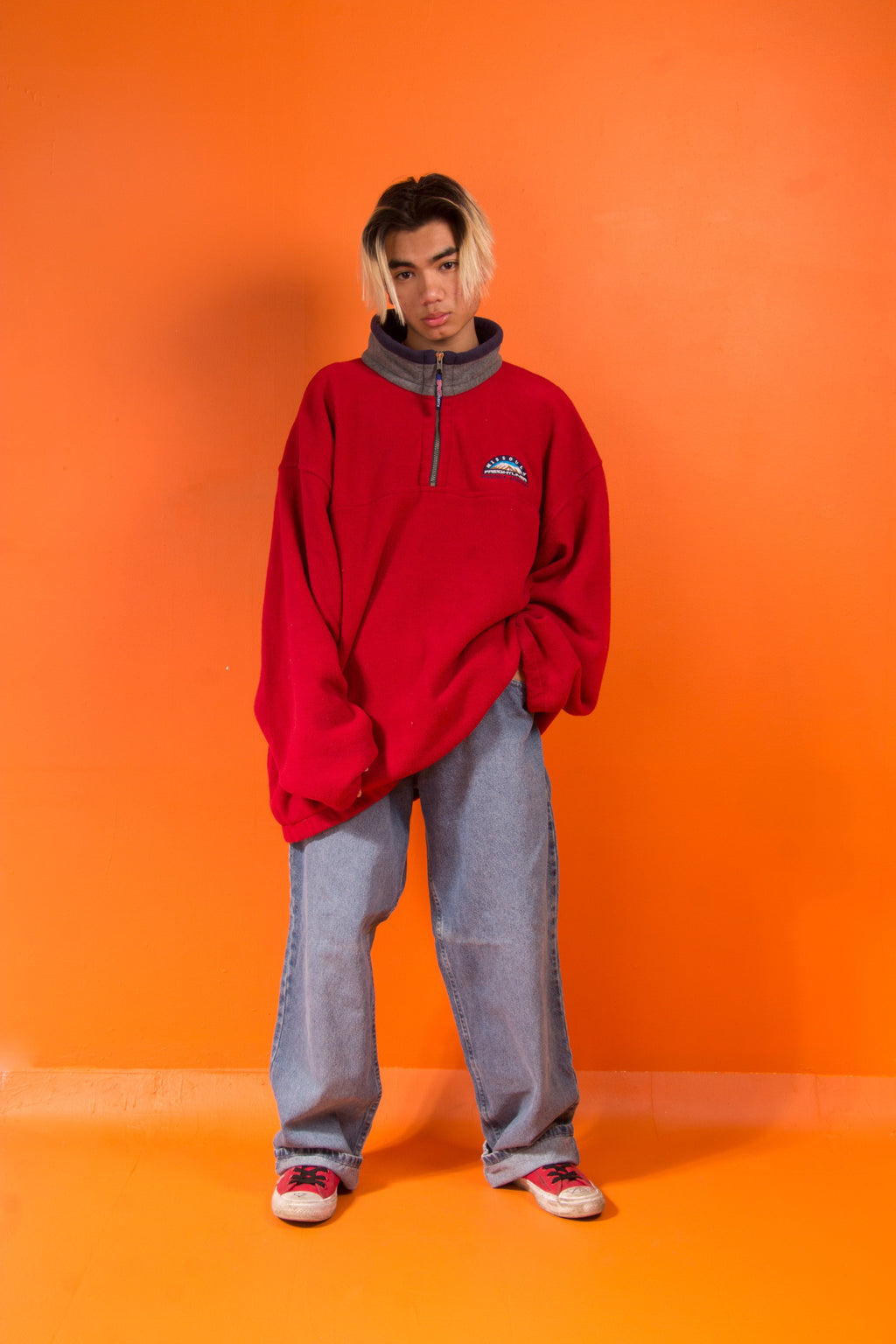 Vintage - Red Fleece sweater