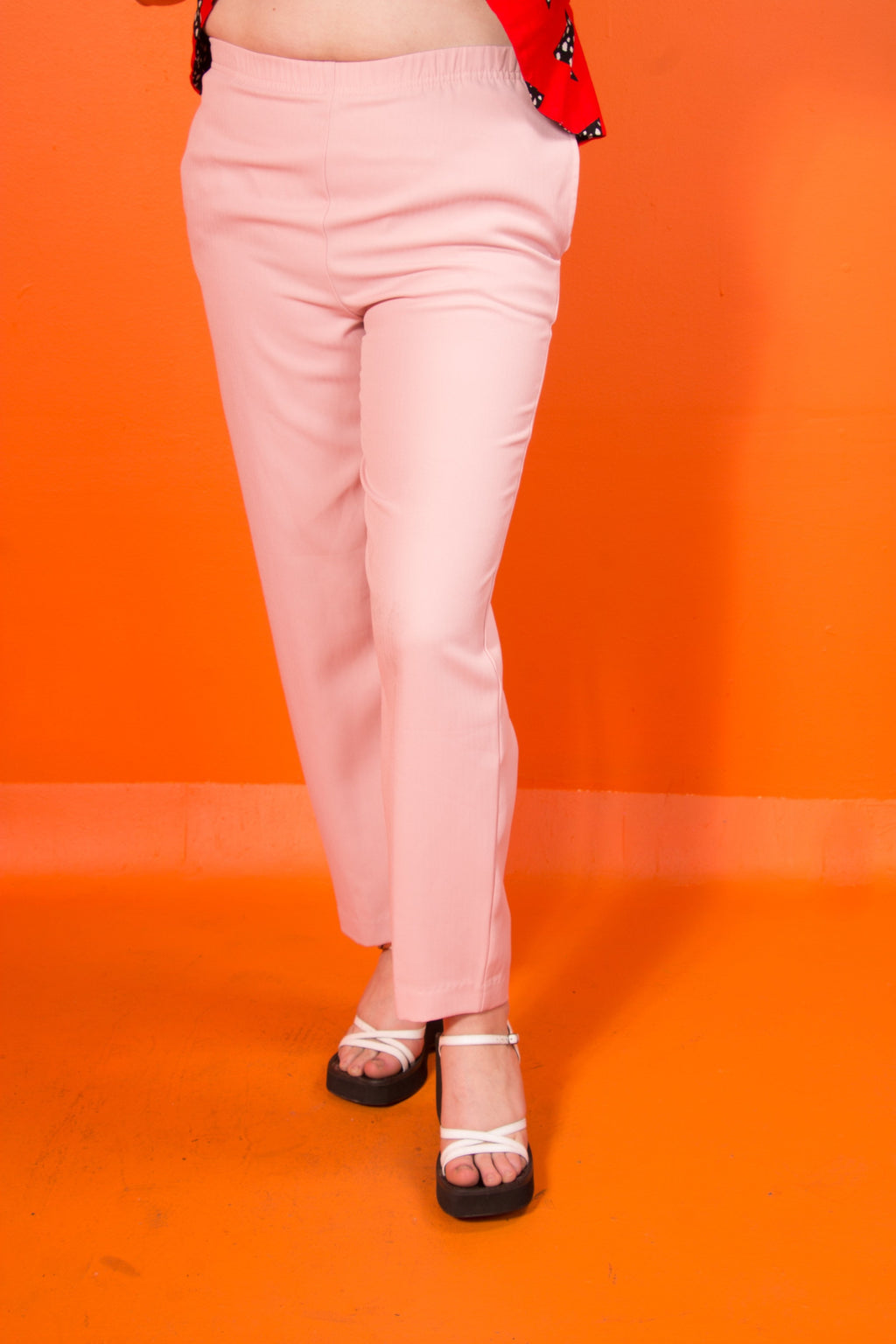 Vintage - blush pink trousers