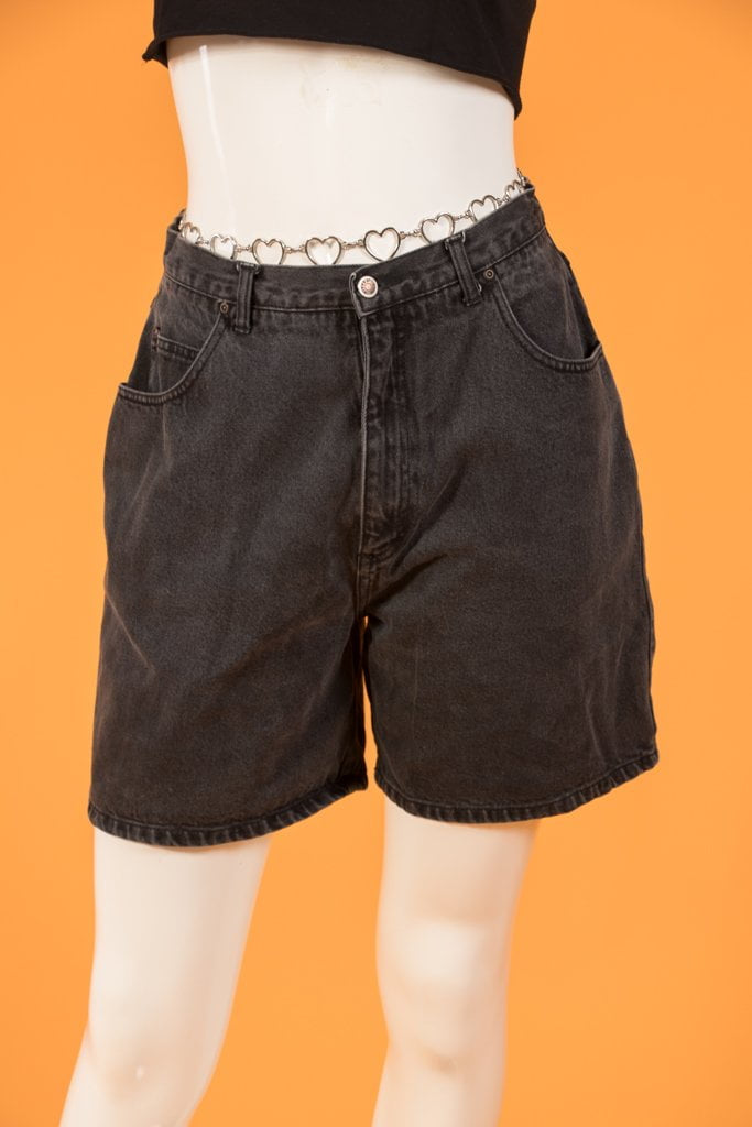 Vintage - Black Highwaist Jean Shorts