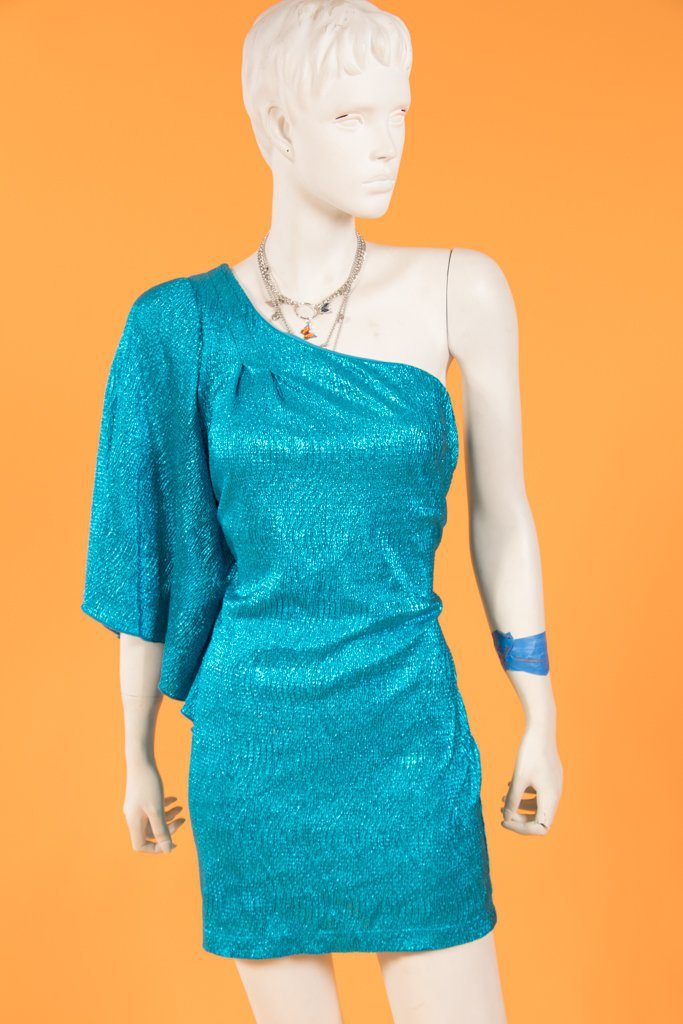 00's Turquoise Michelle Dress