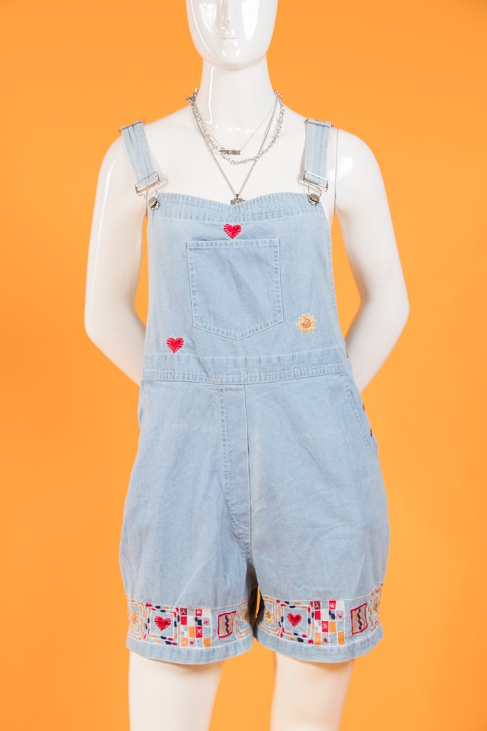 Vintage - Embroidered Overalls