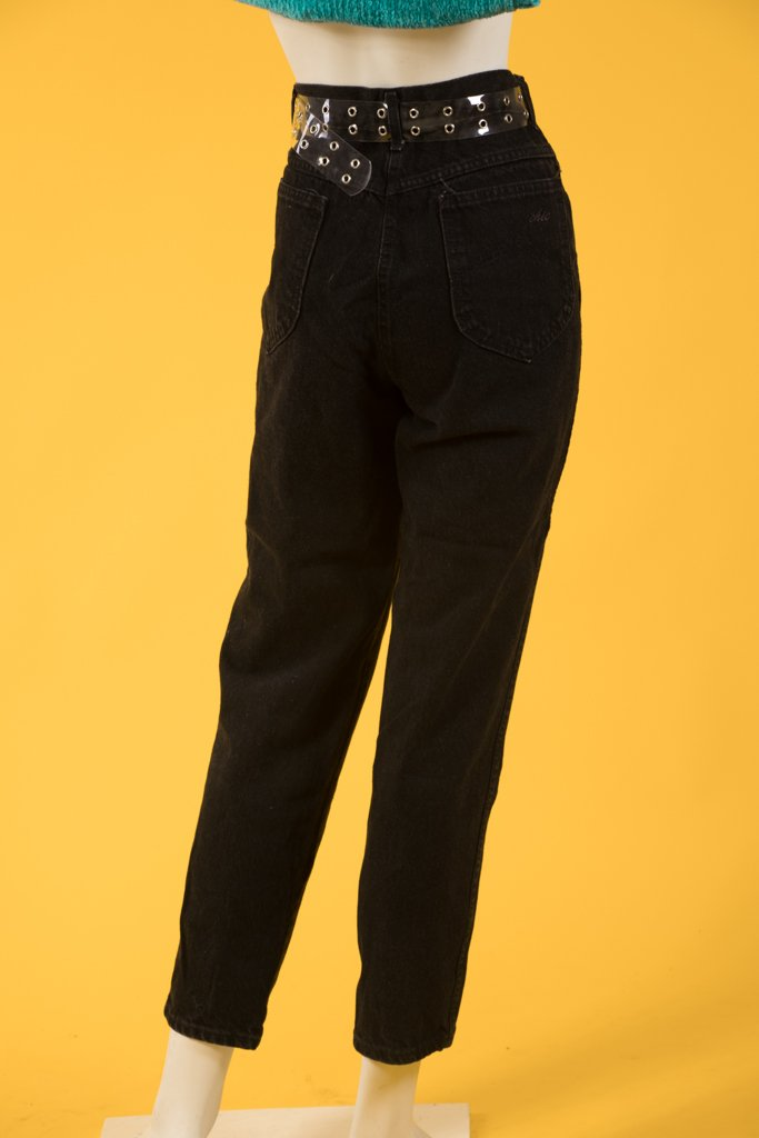 Vintage - Black Chic Mom Jeans