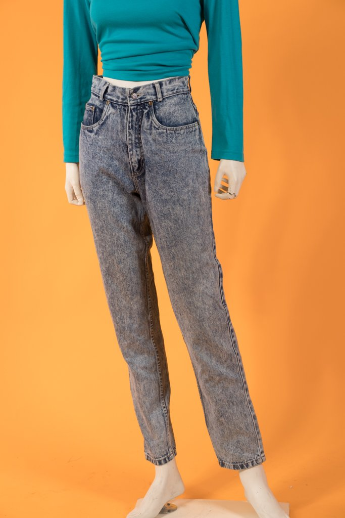 Vintage - Acid Wash Mom Jeans