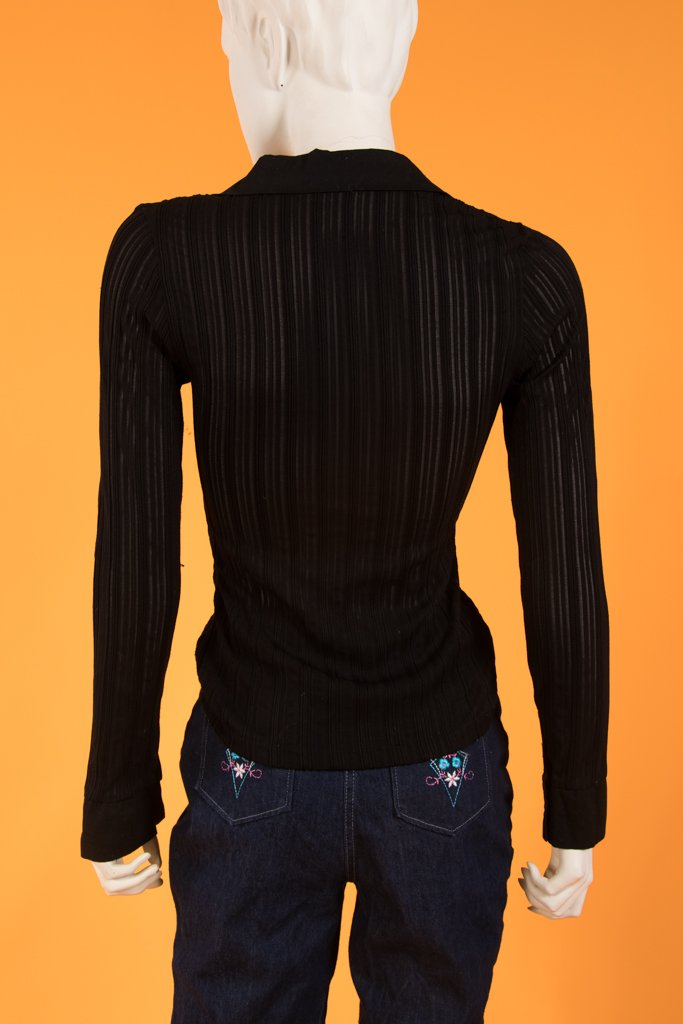 00's Black Gia Working Gal Top
